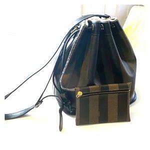Vintage Fendi Zucca Bucket Bag